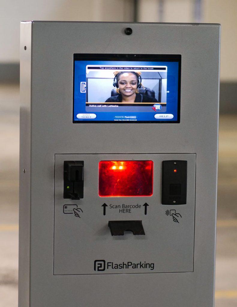 Flash kiosk in Park-Rite garage